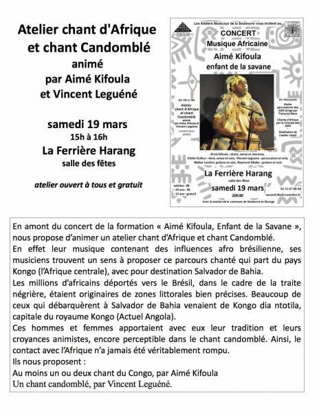 Atelier chant 19 mars